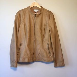 Christopher & Banks Faux Leather Jacket